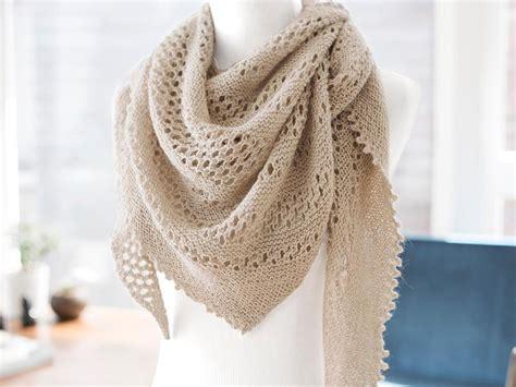 hot oatmeal lace shawl knitting kit craftsy