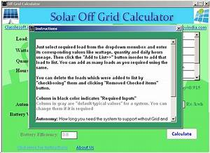 Solar Offgrid Calculator