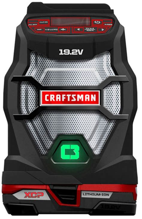 craftsman  cordless bluetooth radio