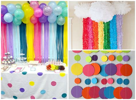 Balloon Decorations Orange County by Awesome Rainbow Themed Party For Kids Fabkids Blog Mom