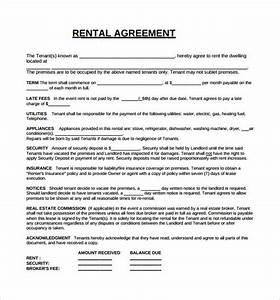 Rental lease agreement 8 free samples examples format for Free lease agreement template download