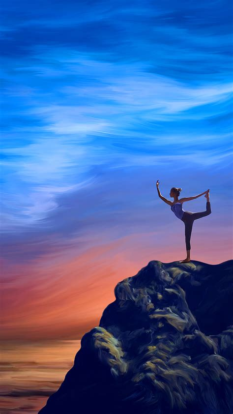Yoga Wallpaper For Mobile Devices  Artwork By