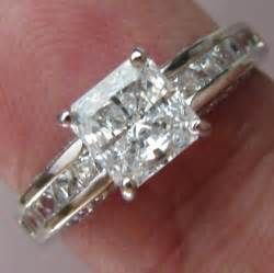 ebay white gold wedding rings princess cut engagement ring brilliant cut real solid 14k white gold ebay
