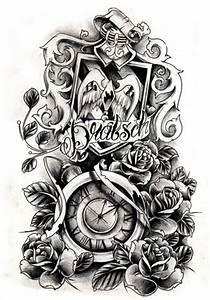 steampunk clock tattoo designs | Clock Tattoo Sleeve ...