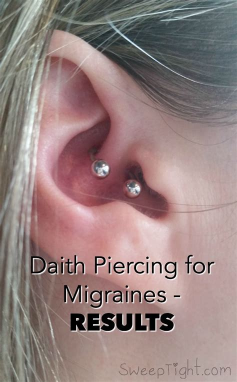 month  results  ear piercing  migraines