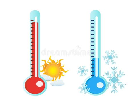 Thermometer In Hot And Cold Temperature Stock Vector ...