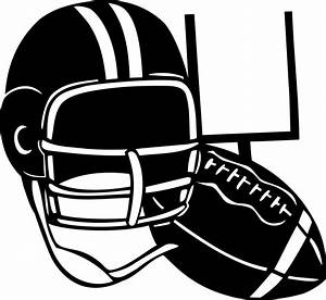 Football clipart black and white free images 2 - Clipartix