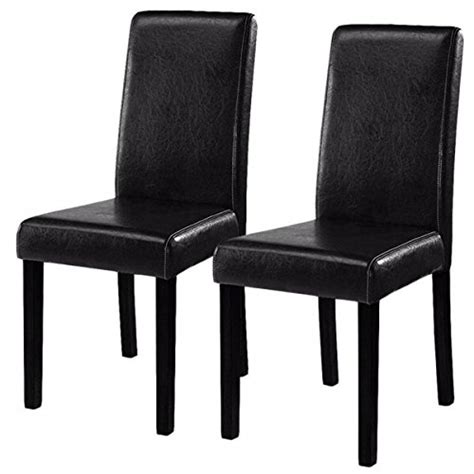 costway design leather modern dining chairs room