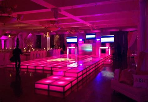 Rent LED Dancefloor, Acrylic Stage Riser Rental - Lighted