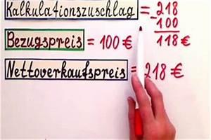 Verkaufspreis Berechnen : rohaufschlag berechnen das sollten sie beachten ~ Themetempest.com Abrechnung