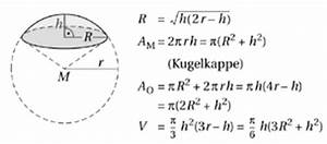 Kugel Berechnen Formel : k rper mit gekr mmten begrenzungsfl chen integralrechnung ~ Themetempest.com Abrechnung