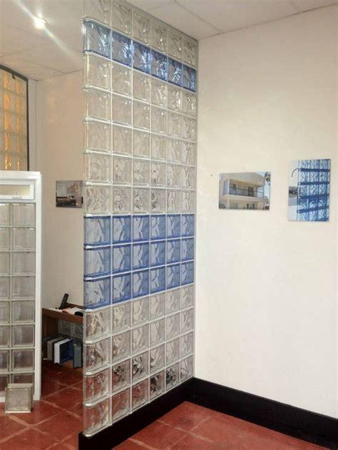 diy wall dividers glass block concrete block  wood