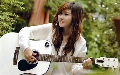 Guitar Asian Smile Desktop Wallpapers Background Guitars