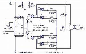 100 Watt Inverter Circuit  U00ab Indianengineer