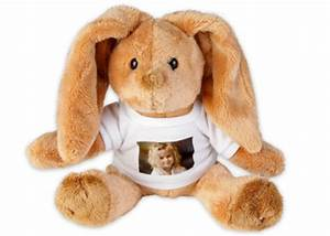 Lapin En Peluche : lapin en peluche avec votre photo pr f r e peluche lapin de qualit heunec avec marquage ce ~ Teatrodelosmanantiales.com Idées de Décoration