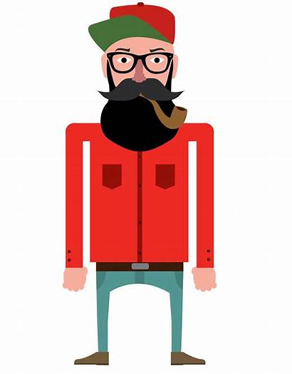 Lumberjack Clipart Hipster Beard Transparent Character Hat