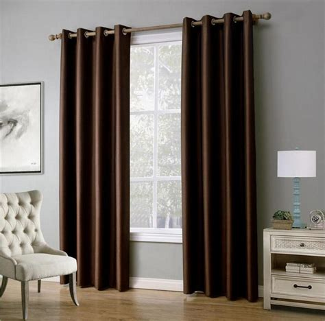 piece solid color window curtains  living room bedroom blackout curtains drapes