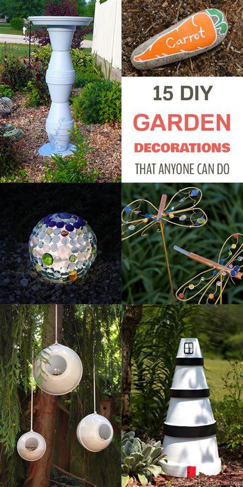 15 Diy Garden Decorations That Anyone Can Do