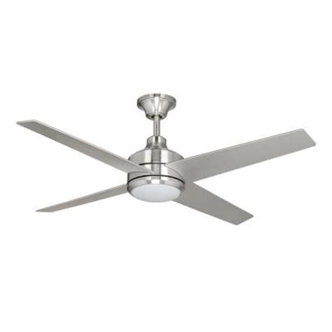 Home Depot Ceiling Fans Brushed Nickel by Hton Bay Mercer 52 In Brushed Nickel Ceiling Fan 14925