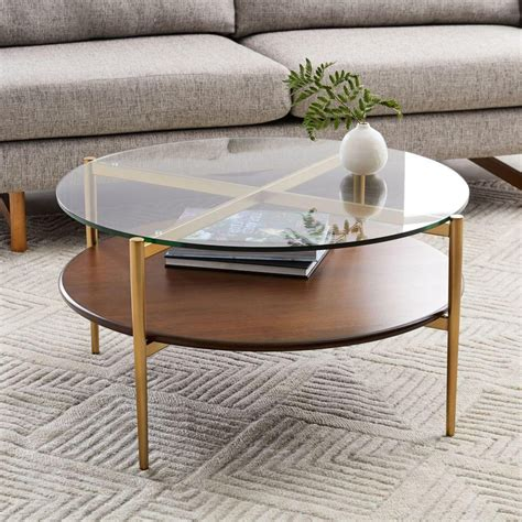 Runder Glas Couchtisch by Mid Century Display Coffee Table West Elm Uk