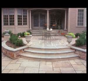 Outdoor Curved Patio Steps