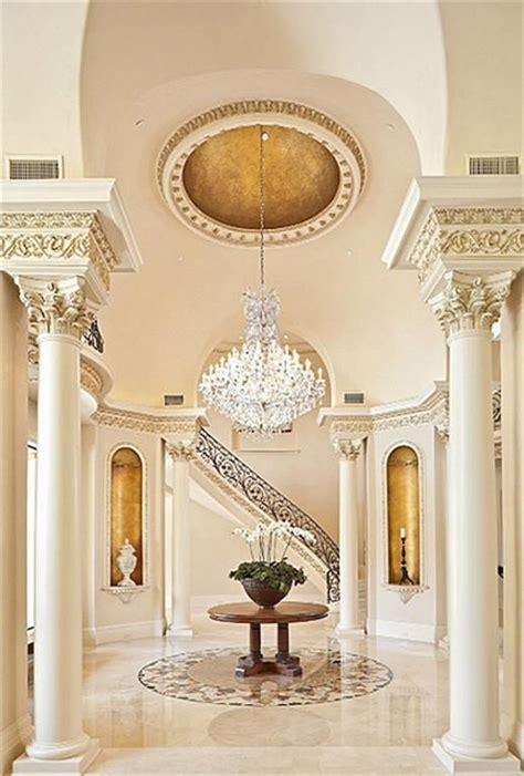exquisite foyer  enhanced  faux gildingdramatic