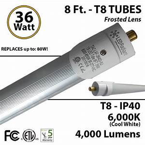 8 Ft  T8 Tube Light 36 Watt Led Replaces T12 75 W