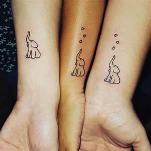 Tattoo Amitié : tatouage famille elephant ~ Melissatoandfro.com Idées de Décoration