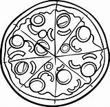 Pizza Coloring Pages Hut Printable Drawing Clipart Sketch Getdrawings Albanysinsanity Clipartmag Di Paper Getcolorings Articolo sketch template