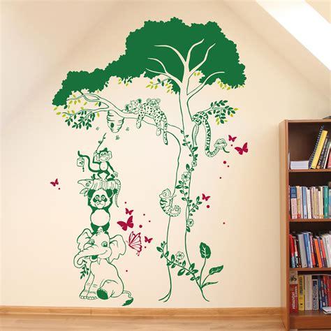 Wandtattoo Kinderzimmer Löwe by Wandtattoo Dschungel Baum Wandtattoo Tiere Zoo L We