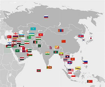 Flags Asia Map Countries Svg Continent States