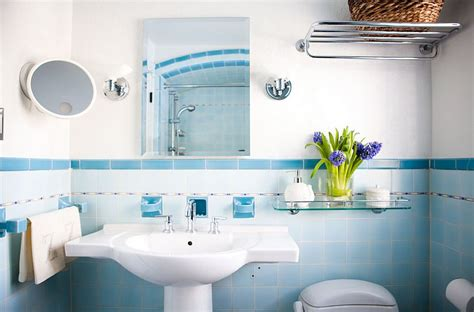 eclectic bathrooms   splash  delightful blue