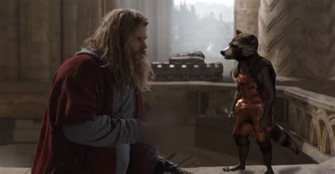 Thor Rocket Raccoon Featured Avengers Endgame