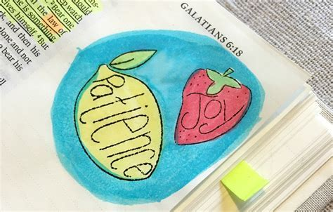 Fruit of the Spirit Craft, Watercolor Bible Verse Card