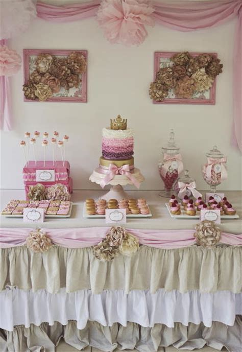 shabby chic dessert table insane shabby chic princess dessert table princess desserttable shabbychic o we know how