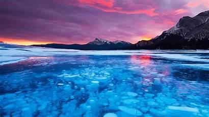 Bing Bubbles Alberta Ice Lake Canada Abraham