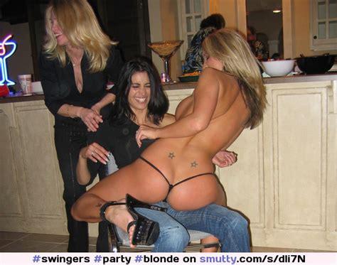 Swingers Party Blonde Brunette Lapdance Stripper