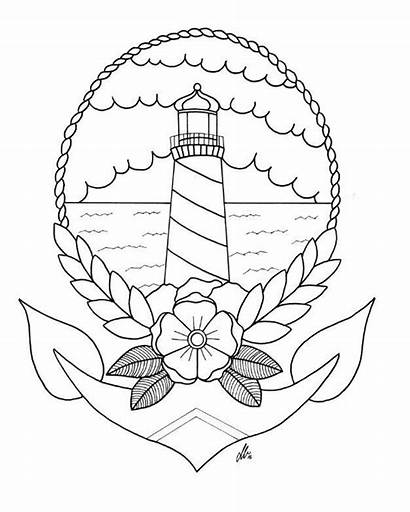 Tattoo Lighthouse Traditional Drawing Tattoos Digital Reference