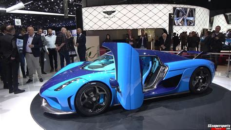 Update Motor Show 2018 : 1 Swedish Blue Koenigsegg Regera Delegance At The2018
