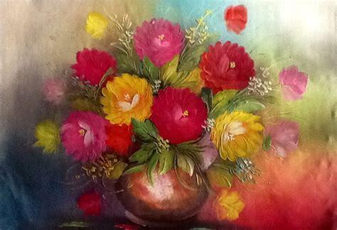 gambar gambar bunga kartun tulip vas pernik dunia lukisan