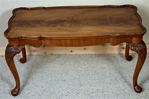Figured mahogany coffee table with removable glass top for Coffee table with removable glass top