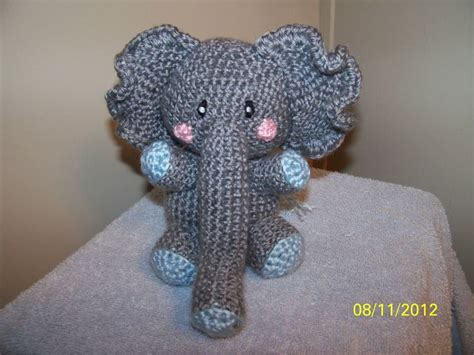 crochet elephant crochet elephant any colors you want can rattle too