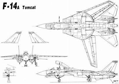 Tomcat Grumman Blueprints Aircraft Drawings Military Geometry