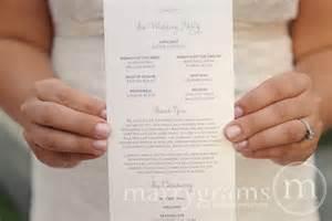 cheap wedding programs wedding programs single sided flat programs by marrygrams