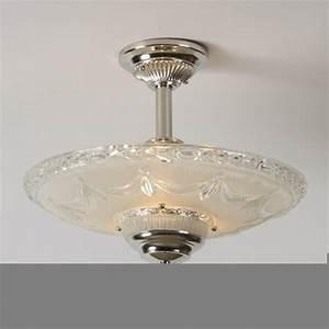 Crystal swag vintage ceiling light