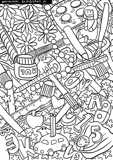 School-Related Coloring Pages