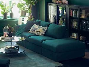 Ikea green sofa fabric couches sofas ikea thesofa for Dark green sectional sofa