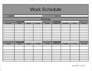 9 best images of free printable work scheduling forms for Bi weekly work schedule template