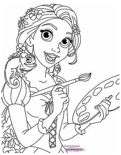 Coloring Pages Rapunzel Tales Stories Getcolorings
