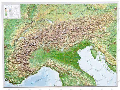 reliefkarte alpen  reliefkarten landkarten